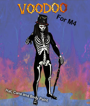 Halloween Voodoo for M4 2D Graphics 3D Figure Assets 3D Models Simon-3D
