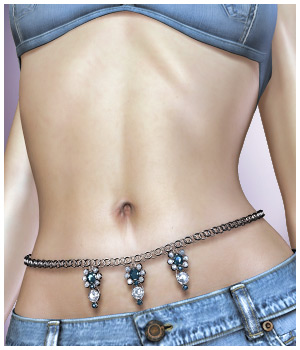 GCDJewelry - Waist Chain for V4 3D Figure Assets RPublishing