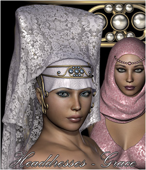 Headdresses - Grace 3D Figure Essentials Rhiannon