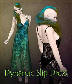 Dynamic Slip Dress 3D Figure Assets Frequency