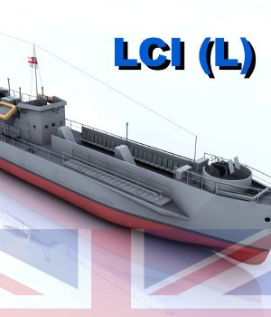 LCI (L) - Landing Craft Infantry, Large (Version 1 British) 3D Models AliceFromLake