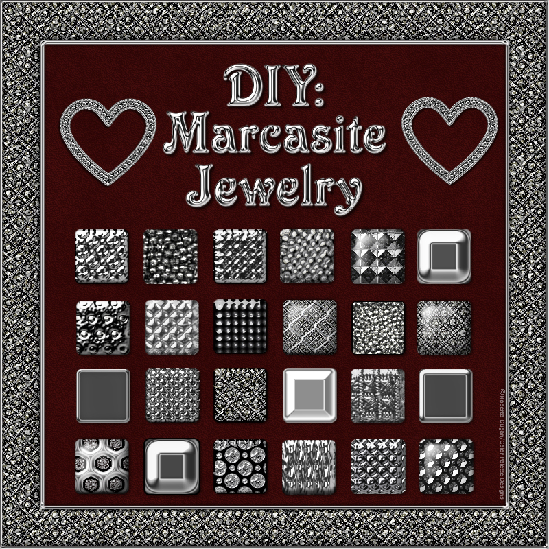 DIY: Marcasite Jewelry Styles and PNG Shapes Design Kit
