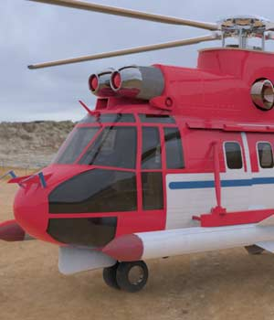 Super Puma AS-332B Helicopter (for Poser) 3D Models Digimation_ModelBank