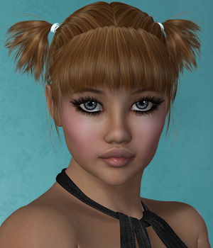 Jani Hair for V4 and G2 3D Figure Essentials SWAM