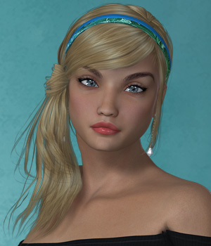 Effa Hair for V4 and G2 3D Figure Essentials SWAM
