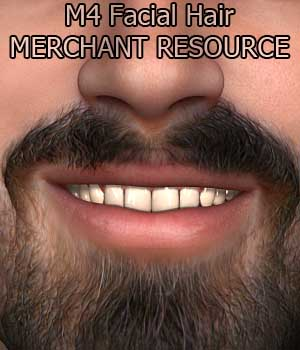 HP : Facial Hair MR for M4 2D Graphics Merchant Resources Hinkypunk