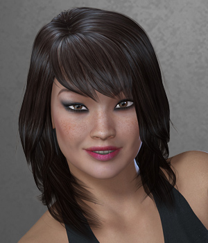 Danielle Hair for V4 and G2 3D Figure Assets SWAM