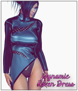 Dynamic Raven Dress 3D Figure Essentials SynfulMindz