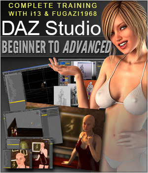 DAZ Studio Beginner to Advanced Tutorials ironman13