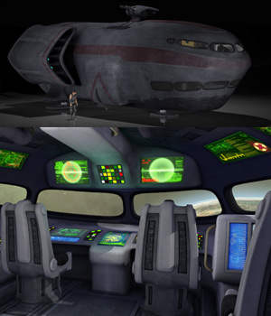 Spaceship with detailed interior by coflek-gnorg