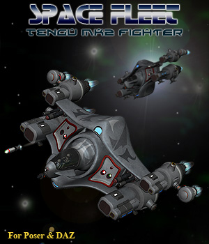 Space Ship Tengu MK2 3D Models Simon-3D