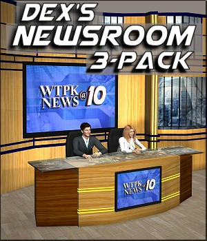 Dex's Newsroom 3-Pack 3D Models DexPac