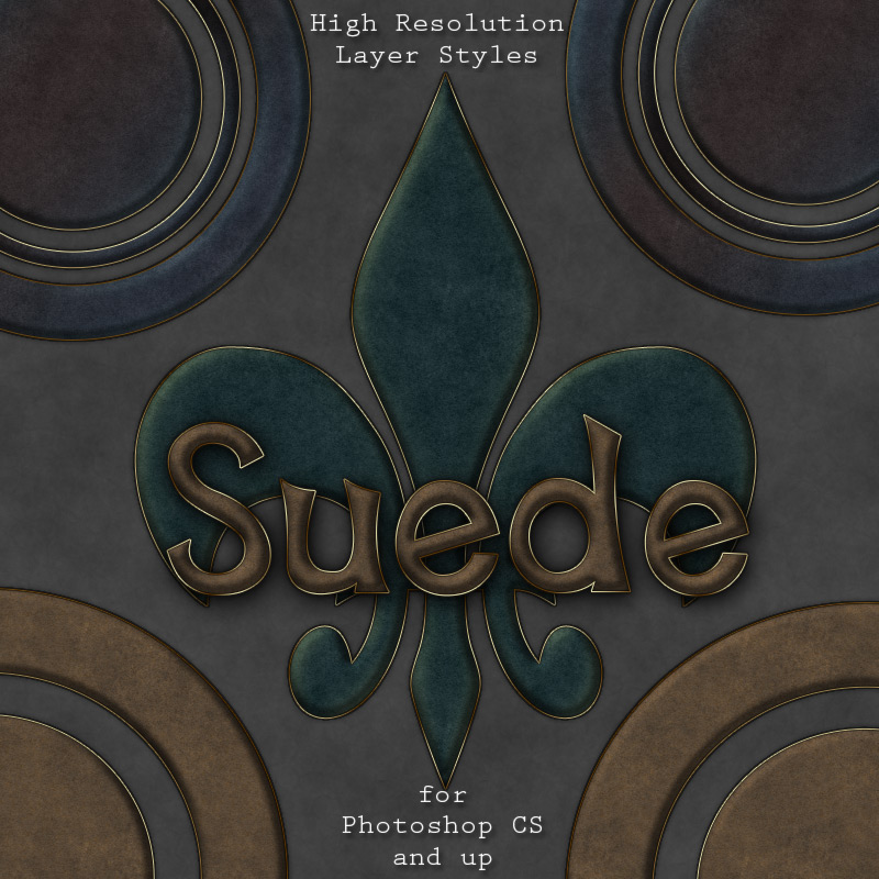 Suede Photoshop Styles