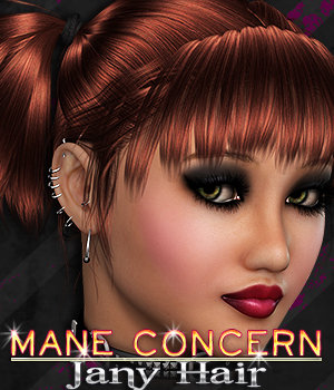 Mane Concern: Jany Hair 3D Figure Essentials 3DSublimeProductions