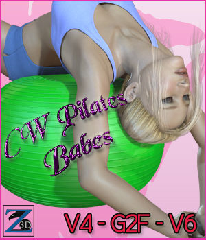 CW Pilates Babes - V4-G2F-V6 3D Figure Essentials 3D Models Cat-Woman