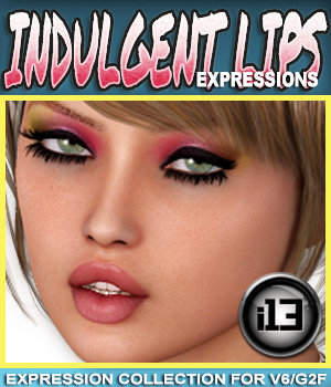 i13 Indulgent Lips EXPRESSIONS for G2F/V6 3D Figure Essentials ironman13