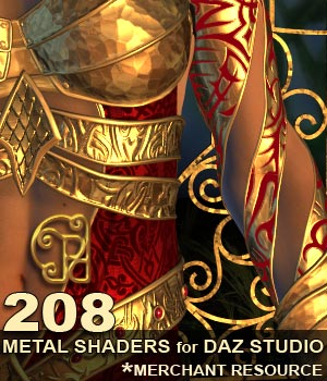 Pd-Metals Daz Studio Shaders by parrotdolphin