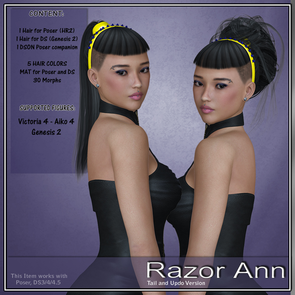 RazorAnn Hair for V4 and G2