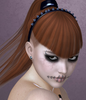 RazorAnn Hair for V4 and G2 3D Figure Essentials SWAM