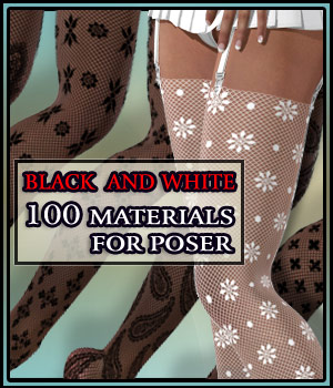 Laced - Materials for Poser 3D Figure Essentials 2D Merchant Resources boundless