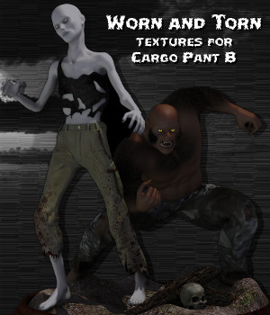 Worn and Torn Textures for Cargo Pant B 3D Figure Essentials zechikin