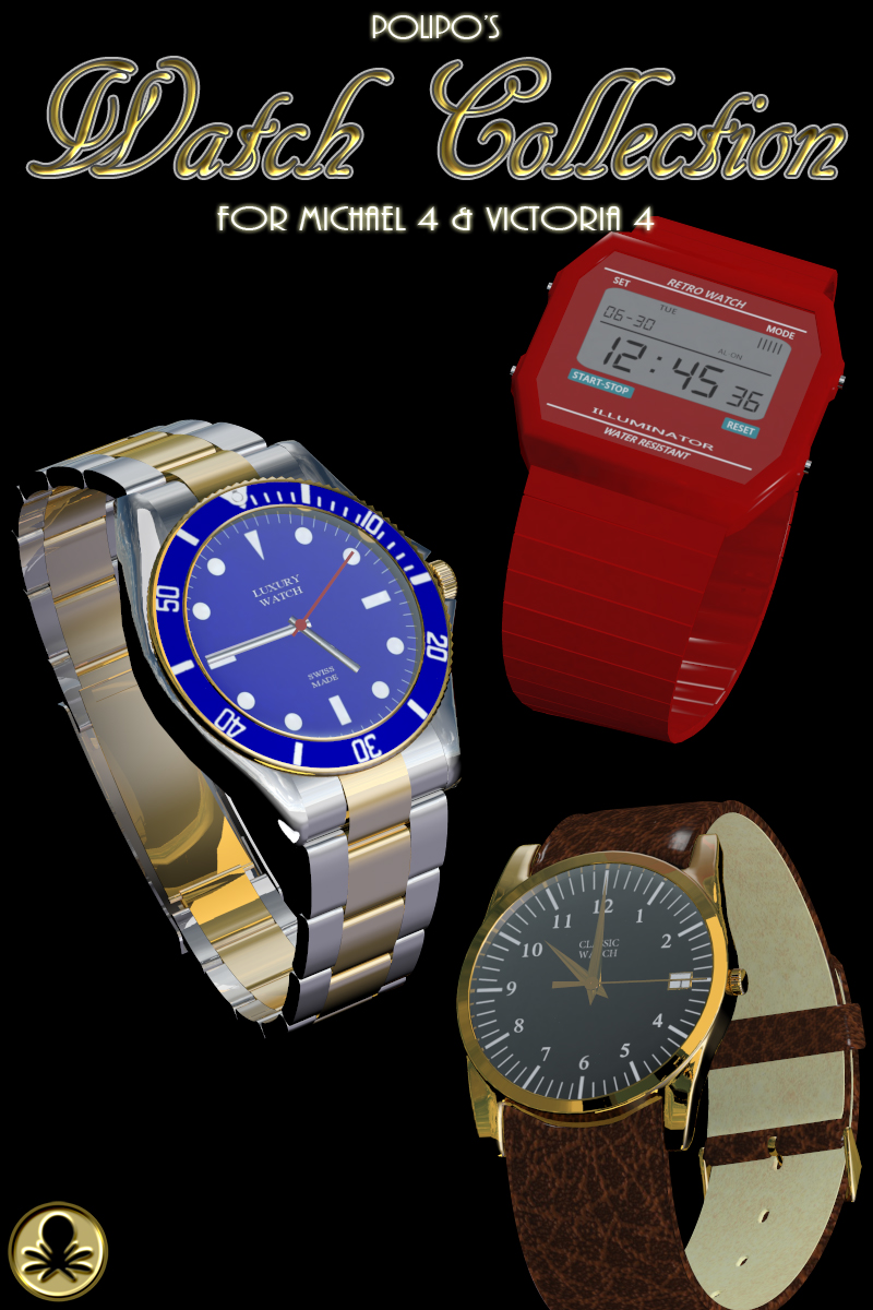 Polipo's Watch Collection for Michael 4 and Victoria 4