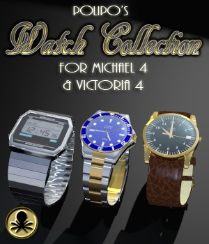 Polipo's Watch Collection for Michael 4 and Victoria 4 3D Models polipo