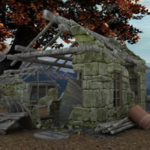 Derelict Buildings (for Poser) - Extended License 3D Models VanishingPoint