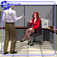 Office Cubicle (for Poser) - Extended License 3D Models VanishingPoint