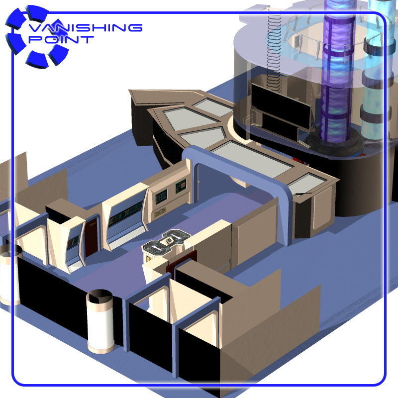 Starship Engineering Room 2 (for Poser) - Extended License by VanishingPoint