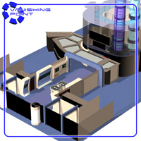 Starship Engineering Room 2 (for Poser) - Extended License 3D Models VanishingPoint