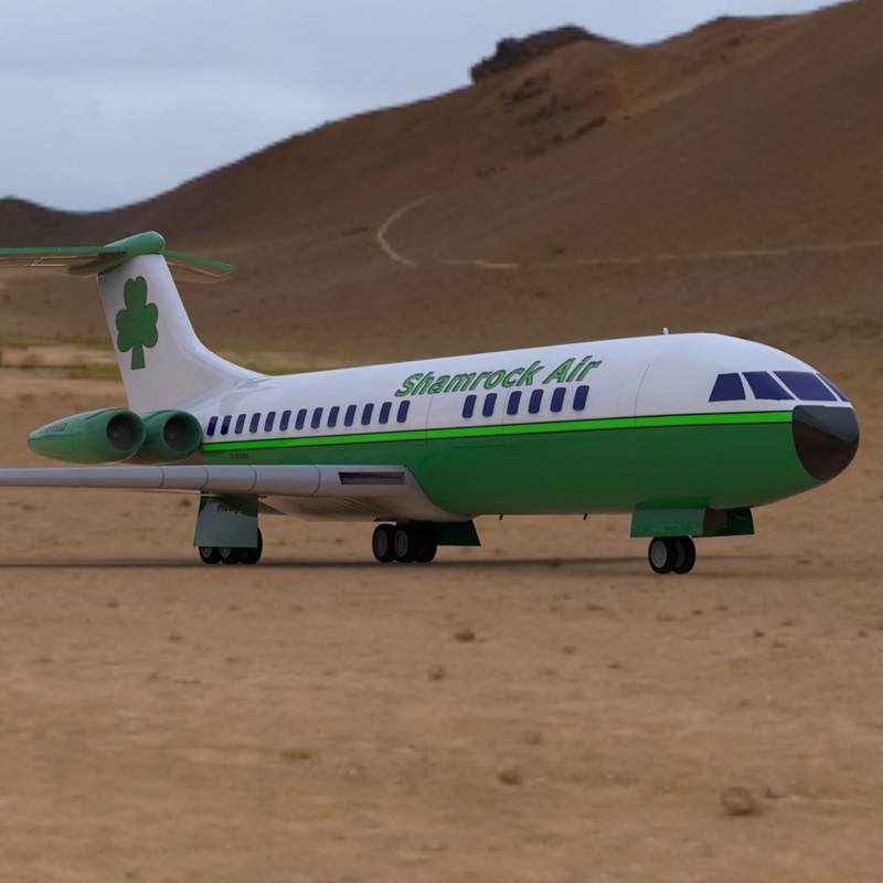 Vickers VC-10 (for Poser) - Extended LicensebyVanishingPoint()