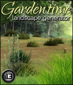 i13 f68 GARDENTIME Landscape Generator for Poser Tutorials 3D Models Software ironman13