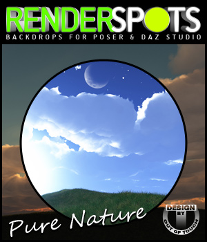 RenderSpots Pure Nature for Poser and DAZ Studio 3D Models outoftouch
