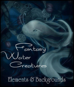 Fantasy Water Creatures 2D Graphics antje