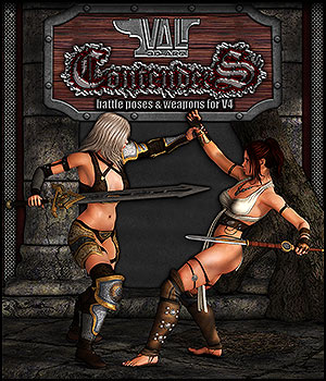 Contenders - Battle Poses for V4 3D Figure Assets 3D Models Val3dArt