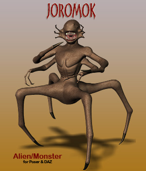 Joromok Alien Monster Creature 3D Models Simon-3D