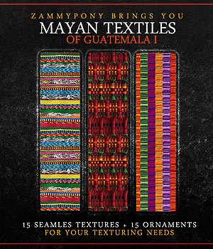 Mayan Textiles of Guatemala Vol. I 2D Graphics Merchant Resources ZammyPony