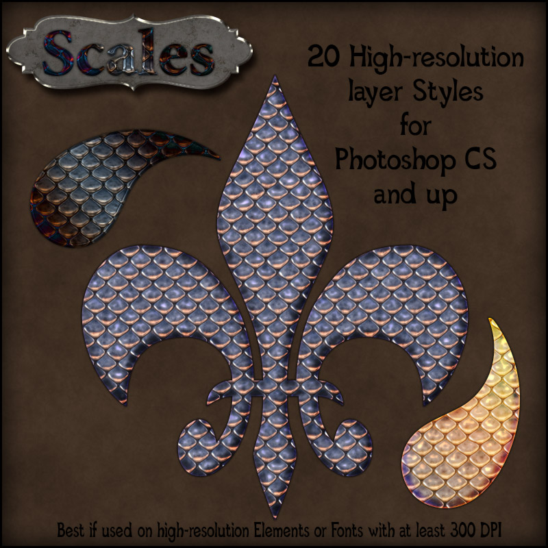 Scales Photoshop Styles