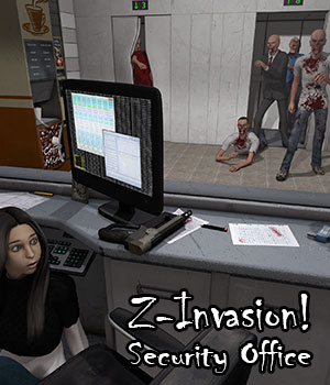 Z-Invasion! Security Office by ile-avalon