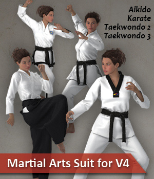 Dynamic Martial Arts Suit V4 3D Figure Assets zollacce