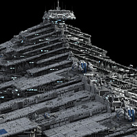 Allied Fleets Heavy Battle Cruiser - Poser,DAZ,OBJ,3DS,MAX - Extended License image 7