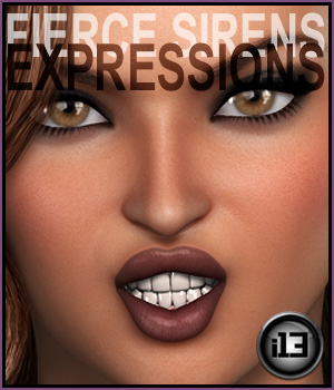 i13 Fierce Siren EXPRESSIONS for G2F/V6 3D Figure Assets ironman13