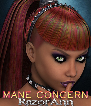 Mane Concern: Razor Ann 3D Figure Essentials 3DSublimeProductions
