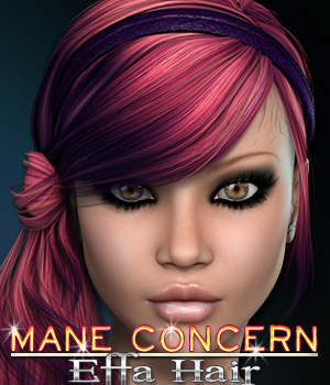 Mane Concern: Effa Hair 3D Figure Essentials 3DSublimeProductions