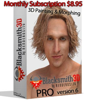 Blacksmith3D PRO version 6, 3D Software, 3d textures, 3d editing, texture painting, 3d sculpting,3d morphing, blacksmith 3d, software, poser,daz studio