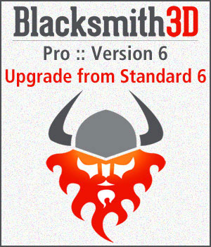 Blacksmith3D Pro-6 Upgrade from Standard-6 Software Blacksmith3D