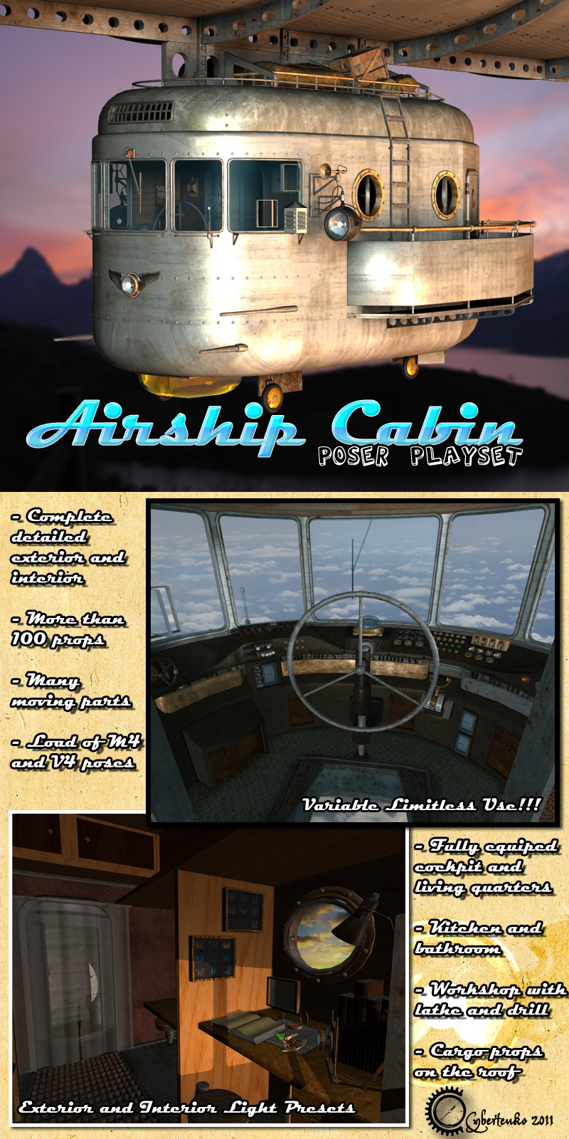Airship Cabin - Extended License
