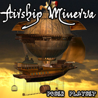 Airship Minerva - Extended License Gaming 3D Models Cybertenko