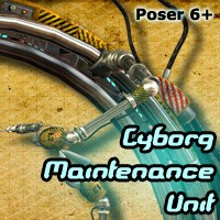 Cyborg Maintenance Unit - Extended License Gaming 3D Models Cybertenko